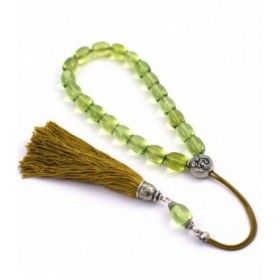 Green amber worry beads efhantro, classic finish, 684