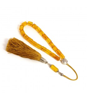 Champaign amber worry beads efhantro, classic finish, 976