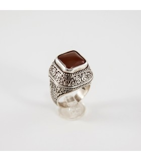 Sterling silver ring with Carnelian, code D-289