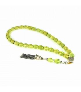 Green Caribbean Amber prayer beads, code 994