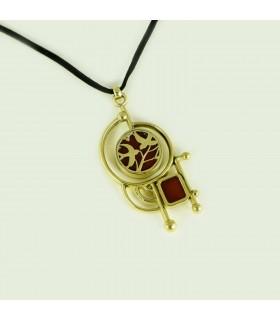 Alloy pendant with Carnelian semi precious stone, code M_161