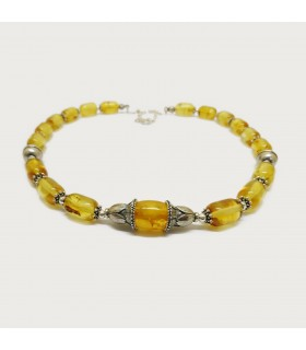 Baltic amber necklace in champagne color, code K-48