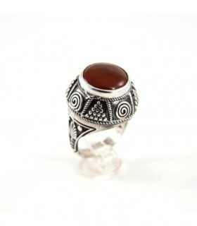 Sterling silver ring with Carnelian, code D-287