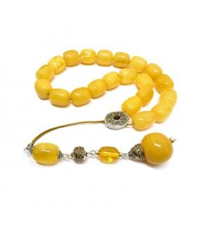 Butterscotch color amber komboloi, luxurious finish, code 93