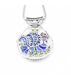 Sterling silver pendant with enamel, code M-70.4