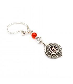 Silver Keychain, with carnelian, code Kr_3