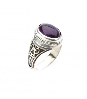 Crystal Healing, Sterling silver ring with semi precious stones, code D_278