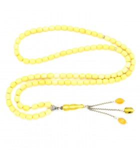 Butterscotch amber prayer beads, code 244