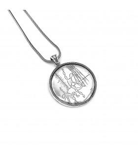 "Sterling silver pendant. Theme: ""Dancing in prison"", code M_206"