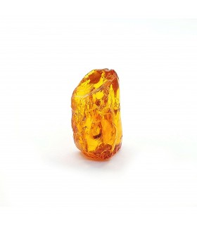 Baltic Amber stone in cognac color with insects, code KB_36
