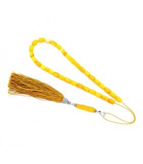 Royal white amber worry beads, elegant finish, code 916